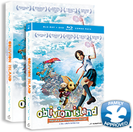 Oblivion Island DVD and Blu-ray packaging